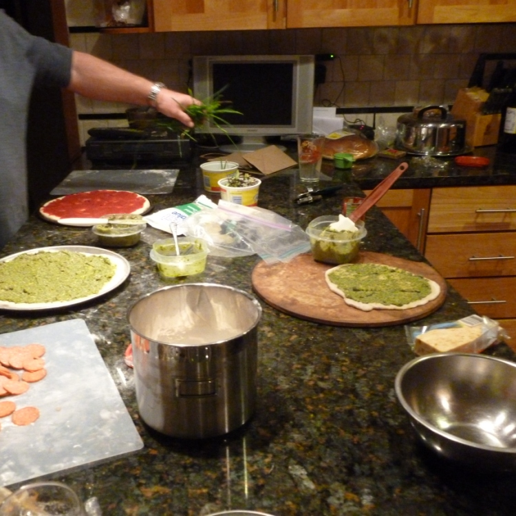 Days 12 - 15 cooking pizza