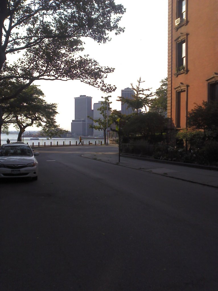 Brooklyn Heights Promenade seen from Mailers house