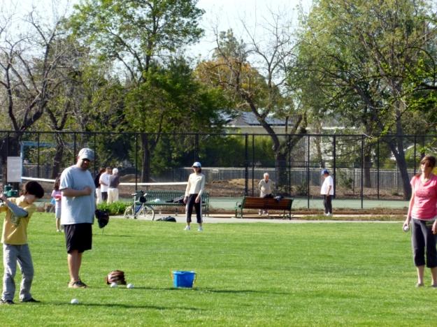 baseball and bocce ball