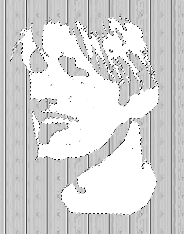 White stencil