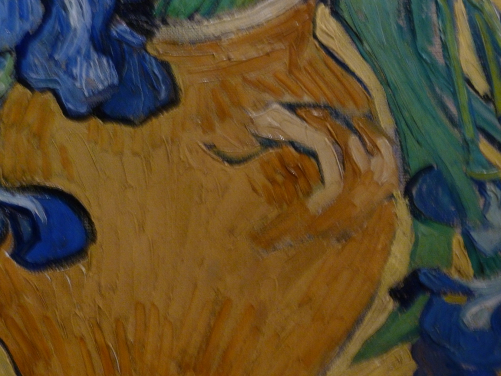 Close up of Irises by Van Gogh 2