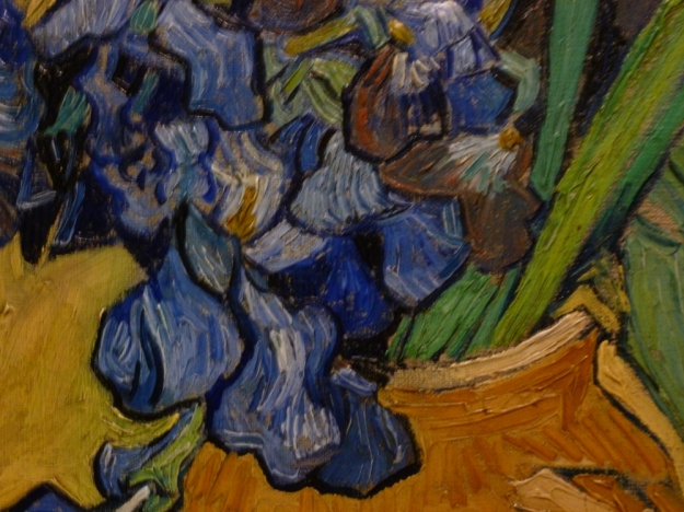 Close up of Irises by Van Gogh