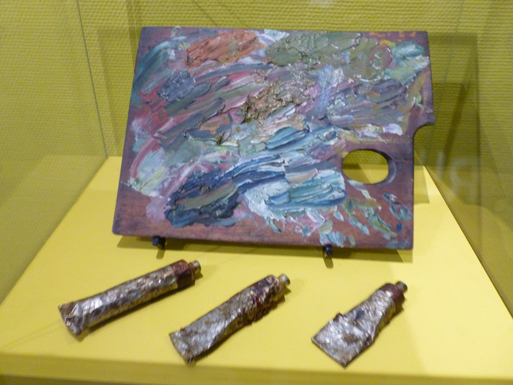 Reproduction sof Van Gogh's palette for The Irises