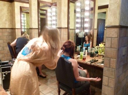 Makeup and hair.