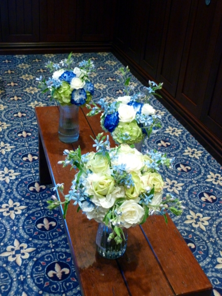 Wedding party bouquets.
