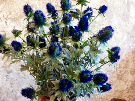 Thistle bouquet in the lounge.