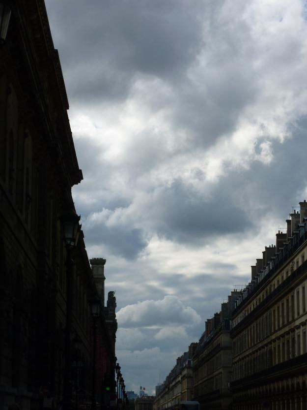 Street outside Louvre, Louvre on left