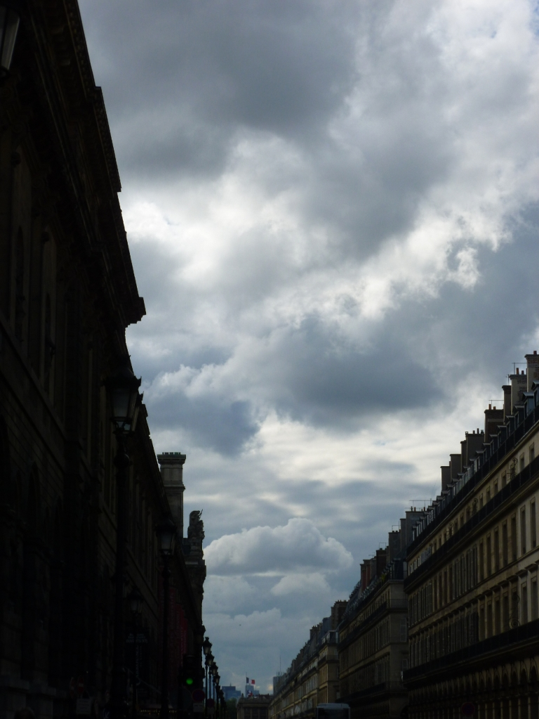 Street outside Louvre, Louvre on left