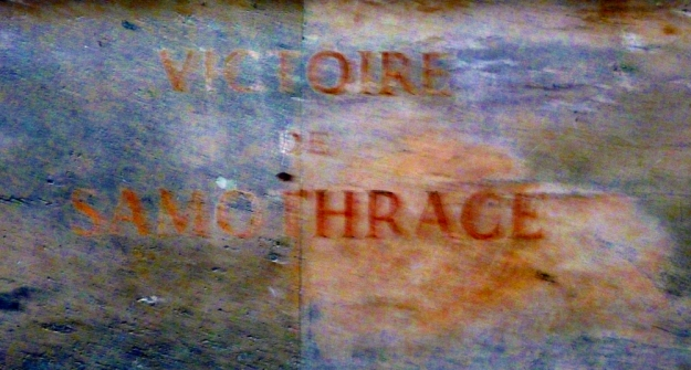 Victory of Samothrace sign