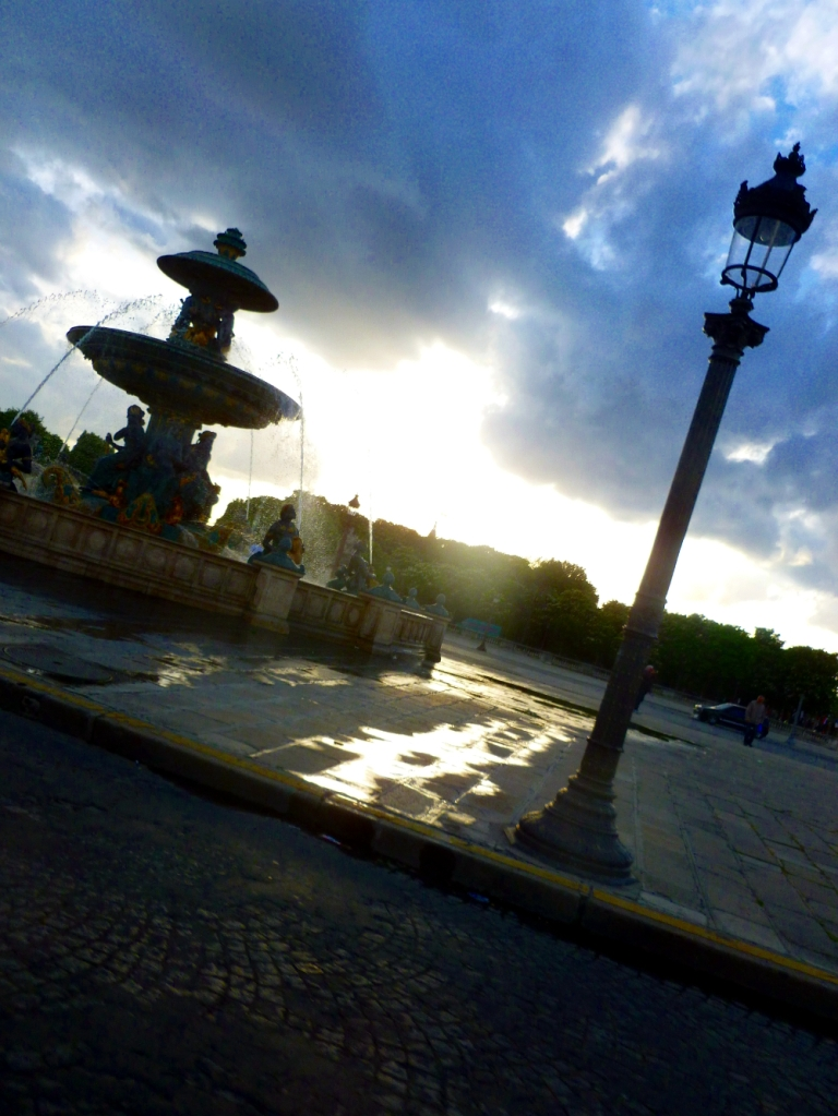 View from taxi Place de la Concorde