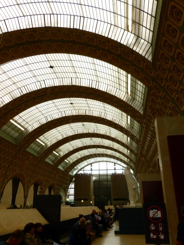 Inside the D'Orsay Museum, a converted train station.