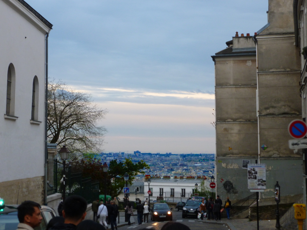 View from near the Sacre Coeur in the evening