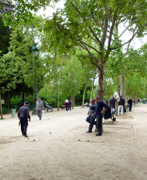 Everyday life, Bocce Ball in the Champs de Mars