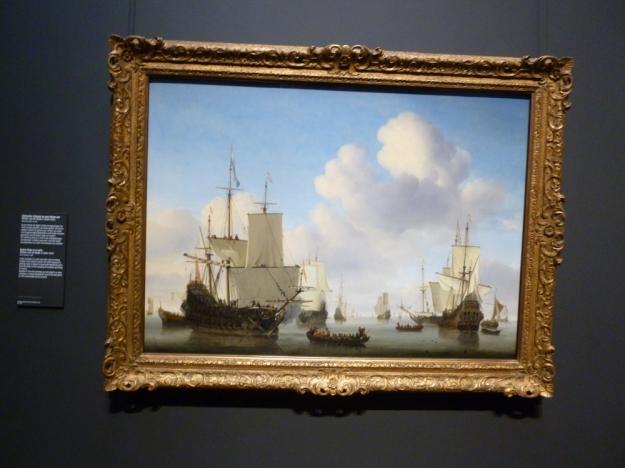 Dutch Ships in the Calm William Van de Velde