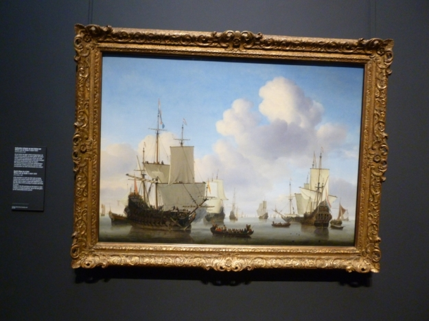 Dutch Ships in the Calm William Van de Velde