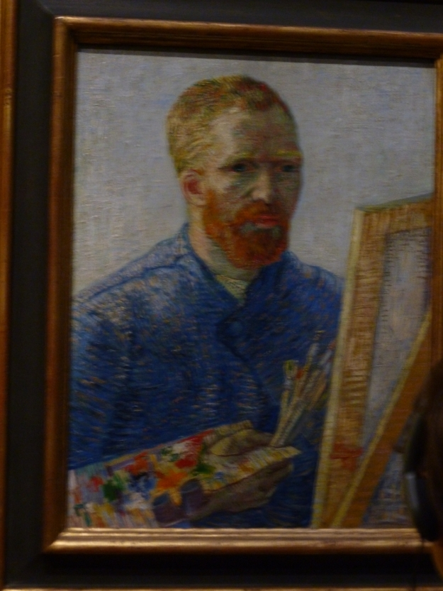 Van Gogh Self Portrait at field easel