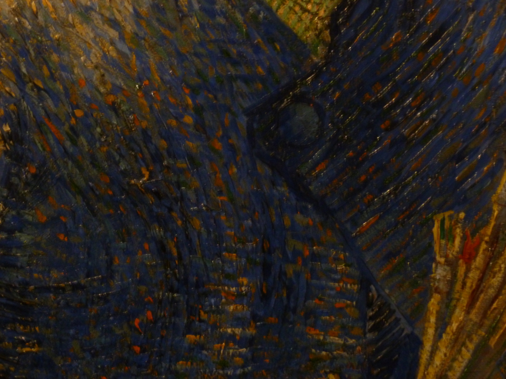 Van Gogh Self Portrait using a field easel detail jacket