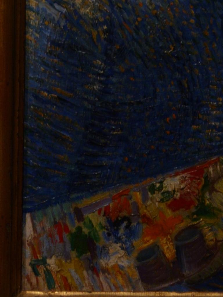 Van Gogh Self Portrait using a field easel detail palette