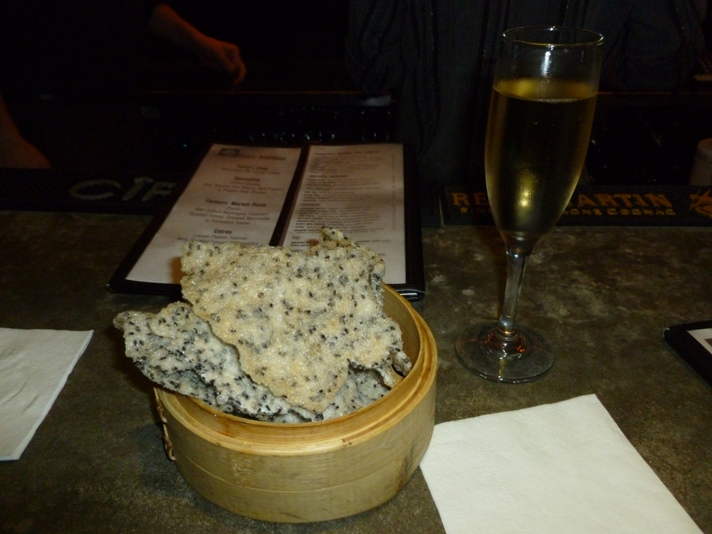 Sesame seed crackers at The Eatery