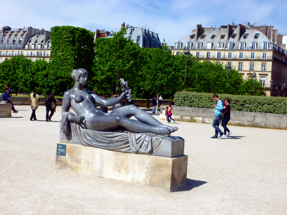 Sculpture by Cezanne outside Louvre