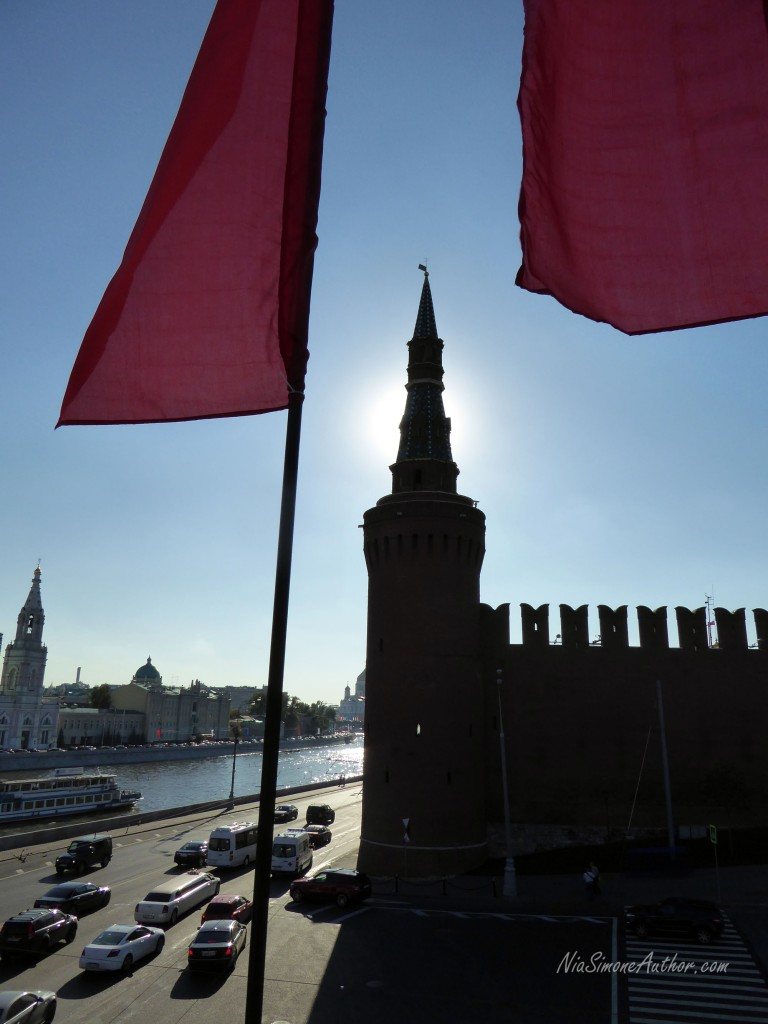 Outside Red Square fortress