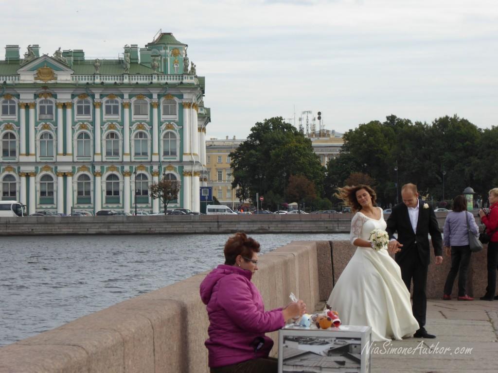 We saw about a dozen brides today.