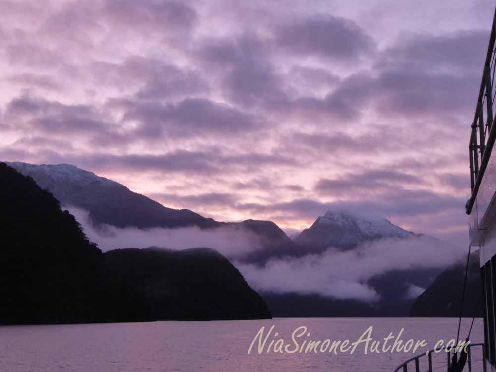 Sunrise over the fiord