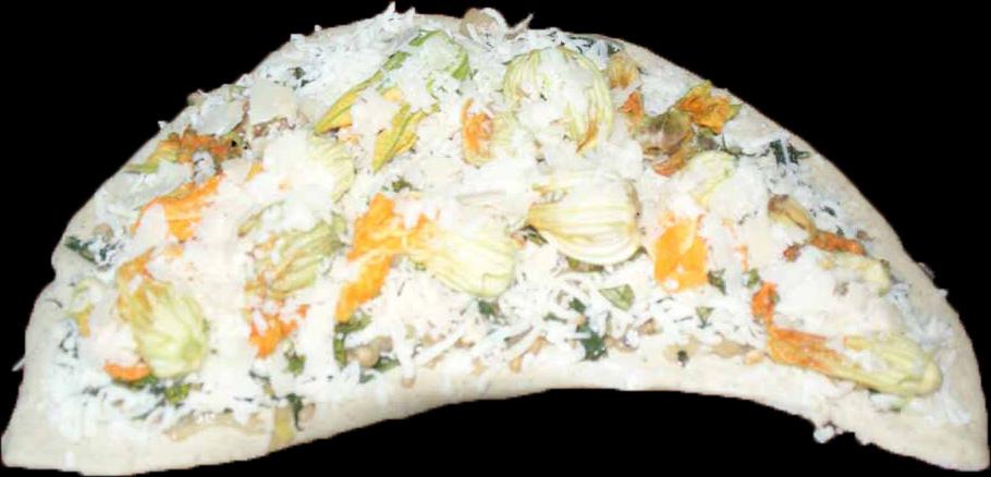 Squash Flower Pizza 1