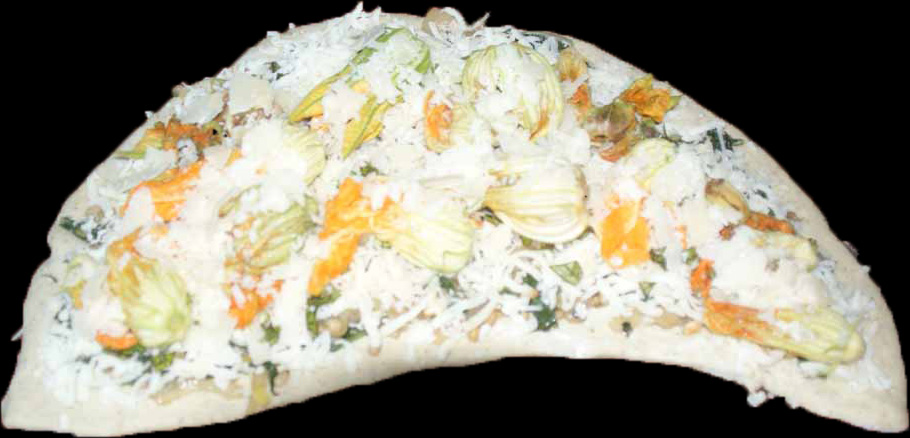 Squash Flower Pizza 1