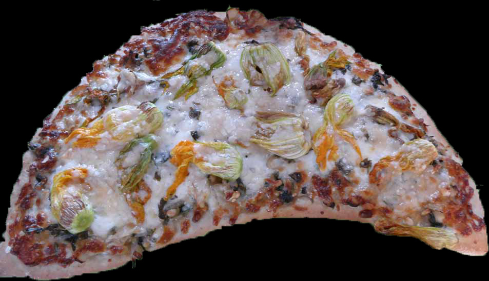 Squash Flower Pizza 2