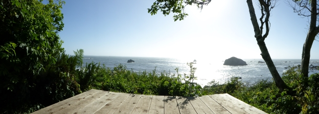 Panorama from lookout point at The Lost Whale Inn, Trinidad, California