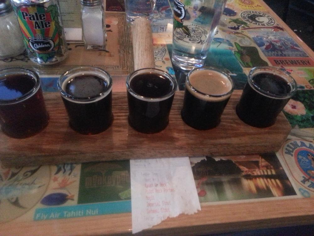 Caldera Brewery beer sample, Ashland