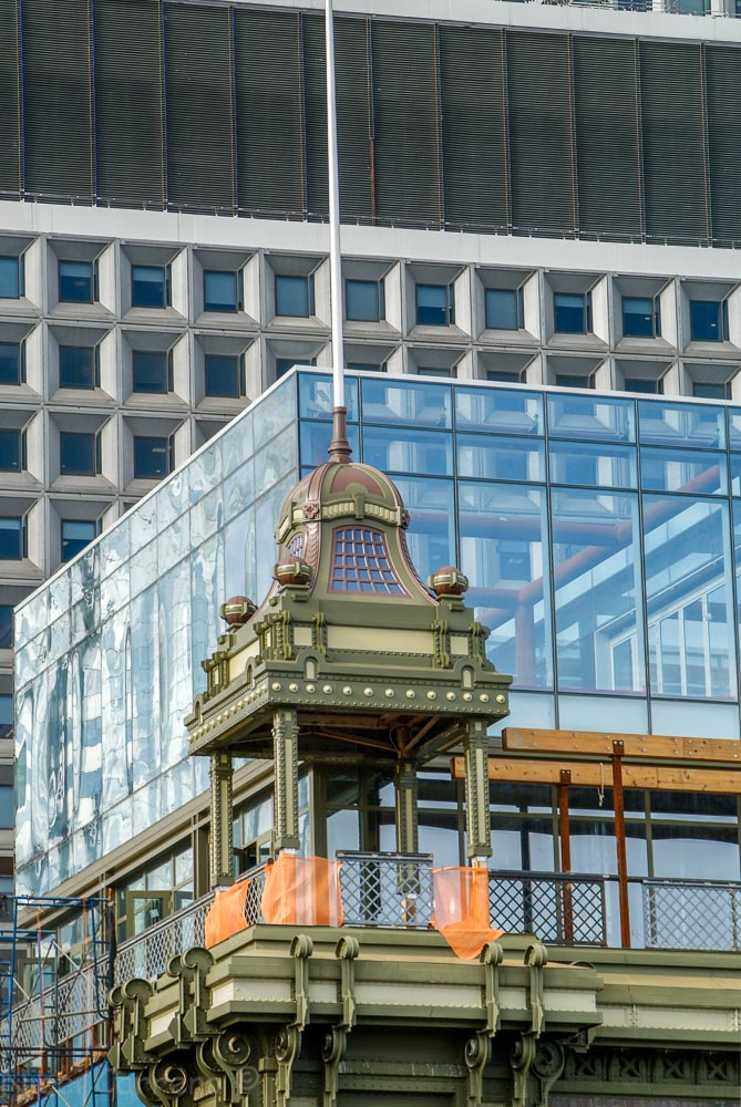 The old Ferry Building, Detail, New York City