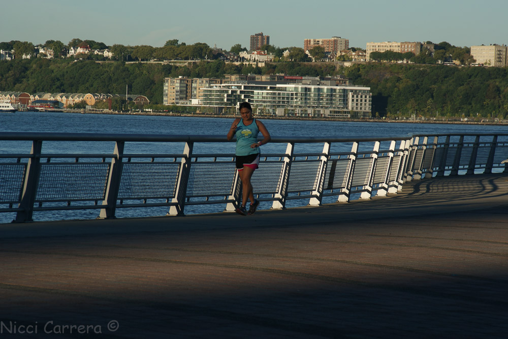 Exercising at Riverside Park