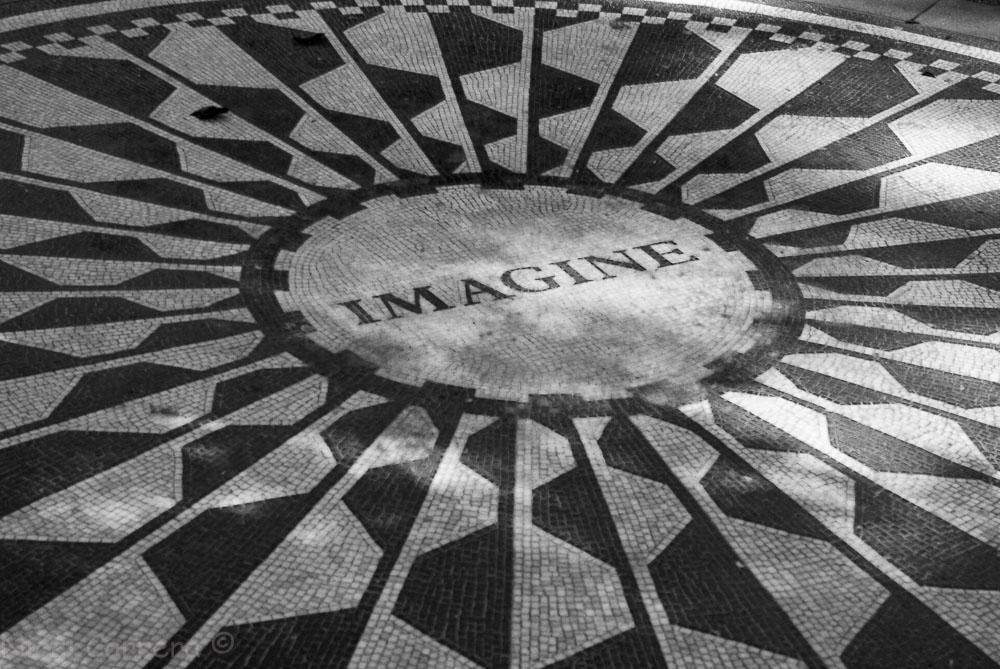 John Lennon memorial in Central Park