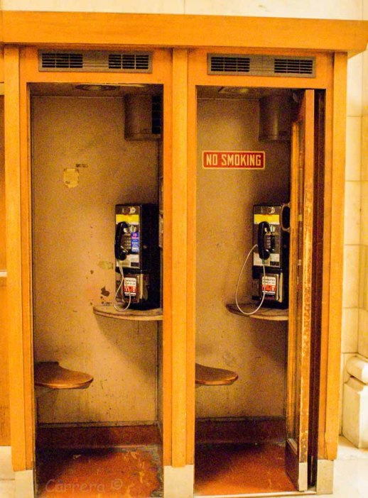 Phone booths in the public library
