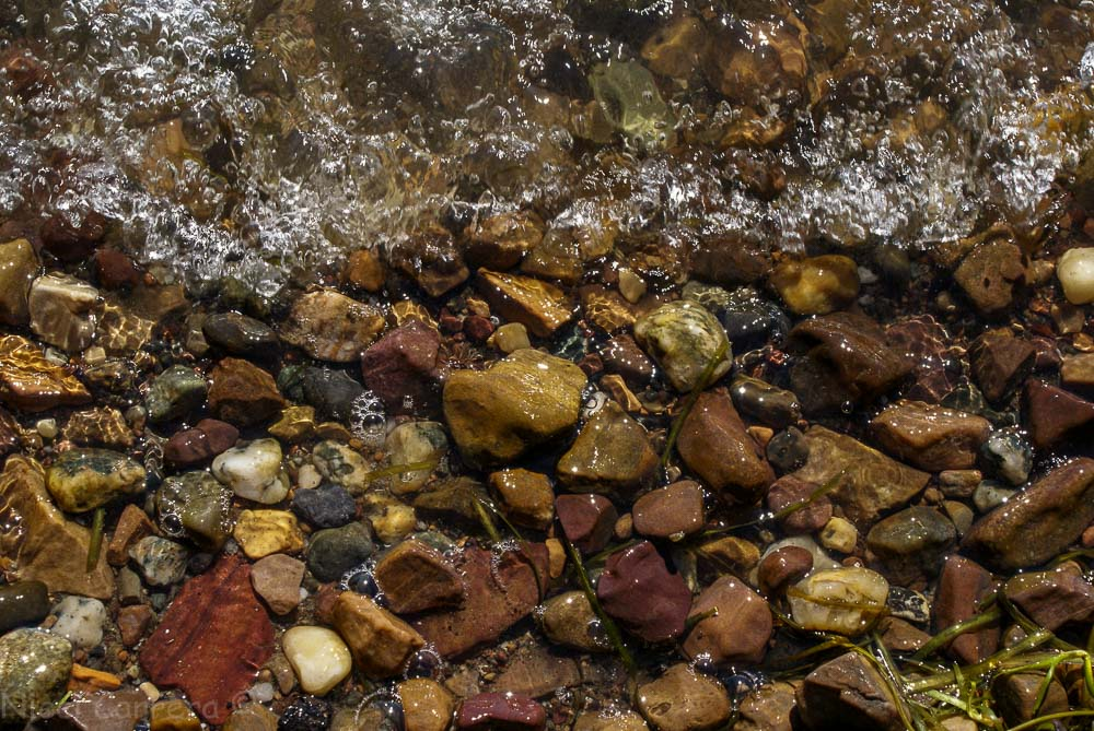 River rocks in Lake Champlain
