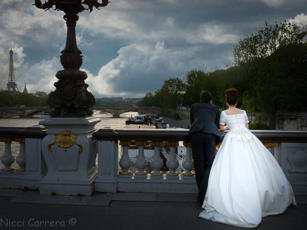 Bride in Paris France