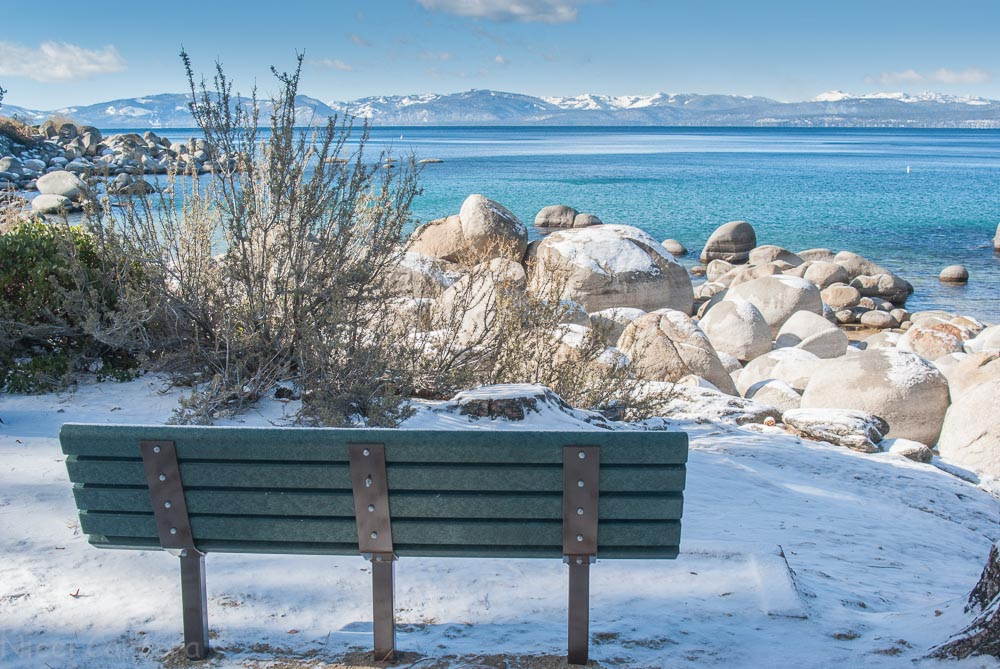 Bench overlooking Sand Harbor