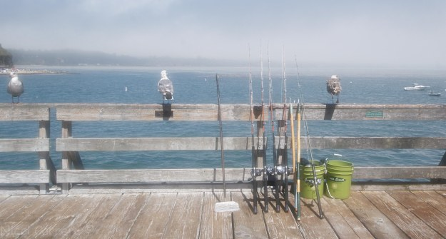 Waiting to fish, Capitola pier