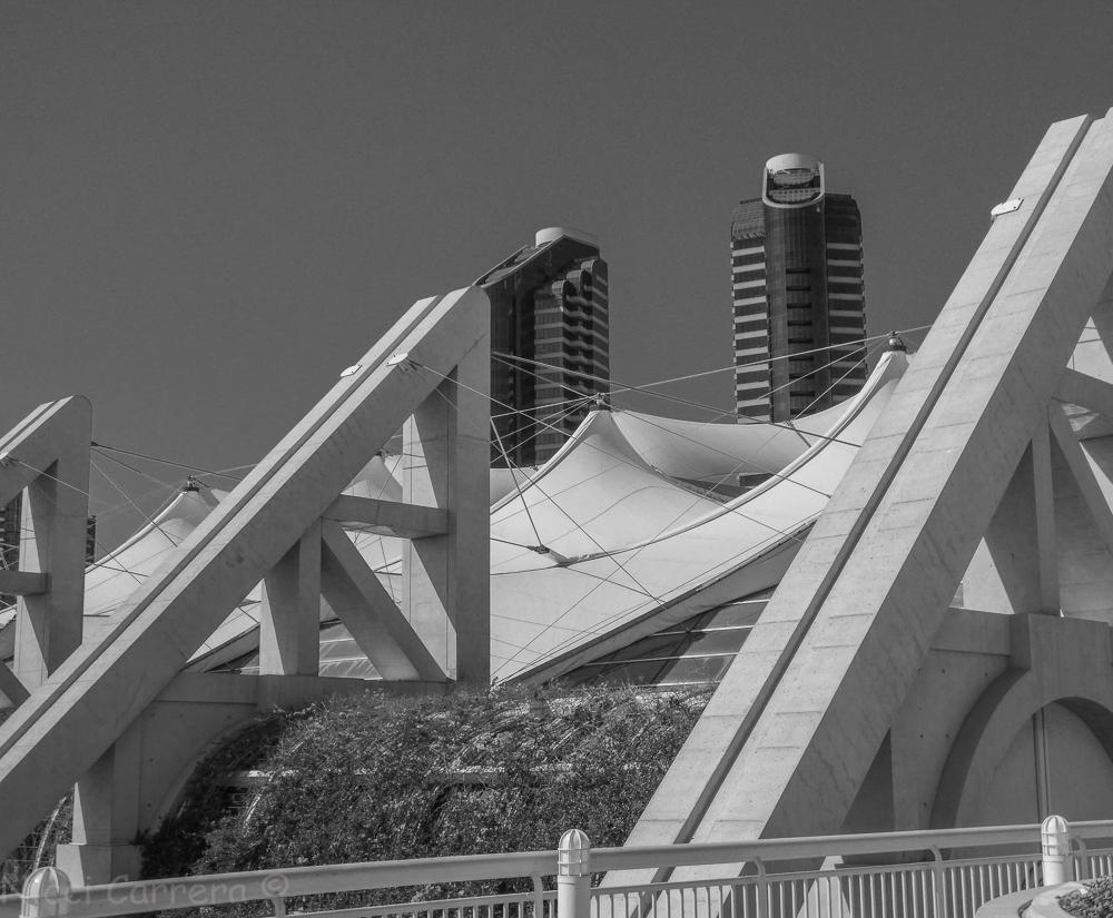 Convention Center San Diego Monochrome